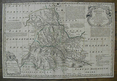 c1770, An Accurate Map of Brecknockshire, by Thomas Kitchin, Brecon Antique Map