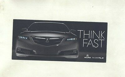 2015 Acura TLX Large ORIGINAL Factory Postcard my8381