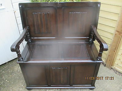 Monksbench With Storage Pristine Condition Craftsman Built By Priory