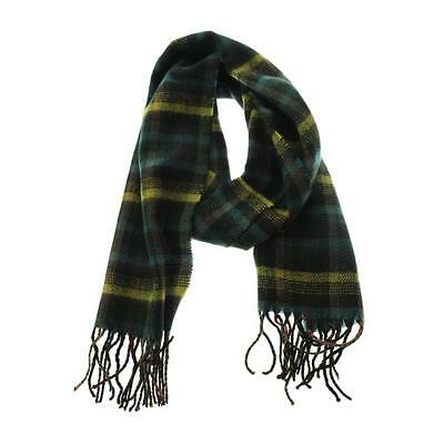 The Rail 8695 Mens Blue Plaid Fringe Knit Winter Scarf O/S BHFO