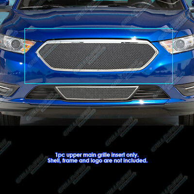For 2013-2017 Ford Taurus W/SHO Logo Cover Stainless Steel Mesh Grille Inserts