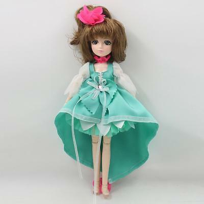 30 Joints Vinyl BJD Body Doll-Making Various Postures Toy Gift in Mint Green