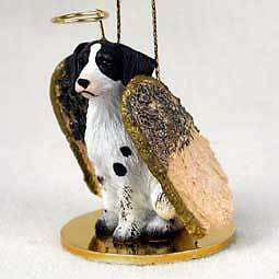 BRITTANY Liver Angel Dog Ornament Figurine Statue - NEW