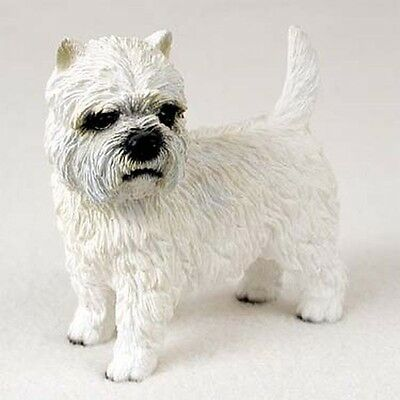 WESTIE West Highland Terrier Dog Hand Painted Canine Collectable Figurine Statue