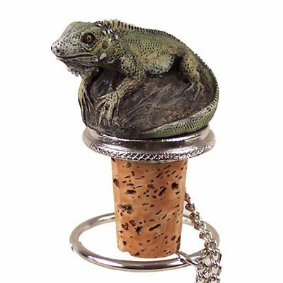 IGUANA Hand Painted Resin Figurine Wine Bottle Stopper