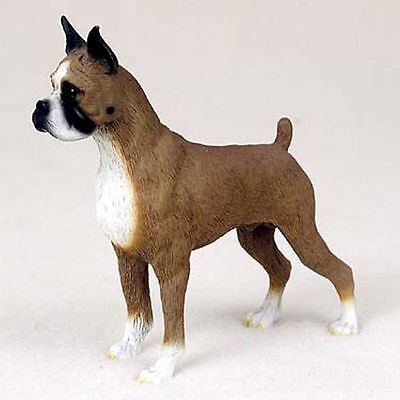 BOXER Cropped Ears Dog Hand Painted Canine Collectable Figurine Statue