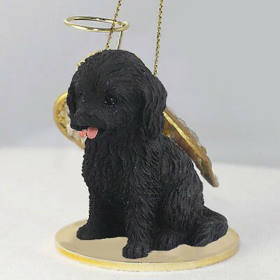 COCKAPOO Black Dog ANGEL Tiny One Ornament Figurine Statue
