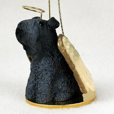 Kerry Blue Terrier Dog ANGEL Tiny One Ornament Figurine Statue
