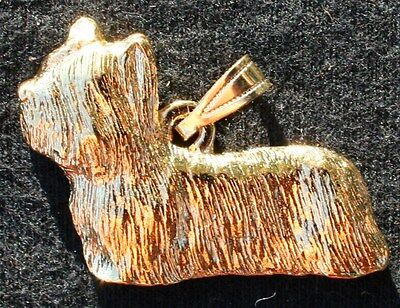 SKYE TERRIER Dog 24K Gold Plated Pewter Pendant Jewelry USA Made
