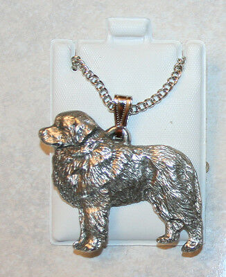 Great Pyrenees Dog Harris Fine Pewter Pendant w Chain Necklace USA Made