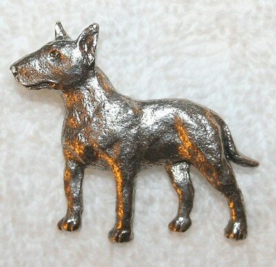 Bull Terrier Dog Harris Fine PEWTER PIN Jewelry Art USA Made