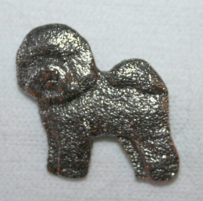 Bichon Frise Dog Fine PEWTER PIN Jewelry Art USA Made