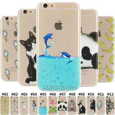 For Apple iPhone SE 5S 6S 7 Plus Soft TPU Slim Back Rubber Clear Skin Case Cover