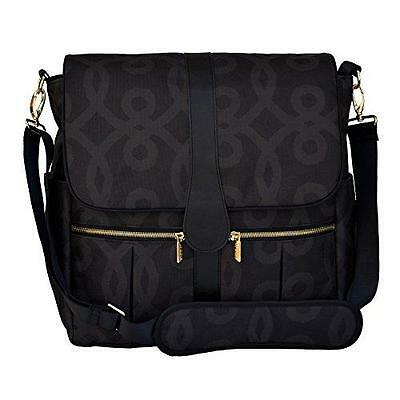 JJ Cole Backpack Diaper Bag, Black and Gold New