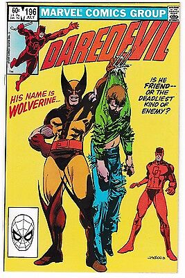 DAREDEVIL #196 (NM-) WOLVERINE Cover Story Appearance! 1st DARK WIND Appearance!