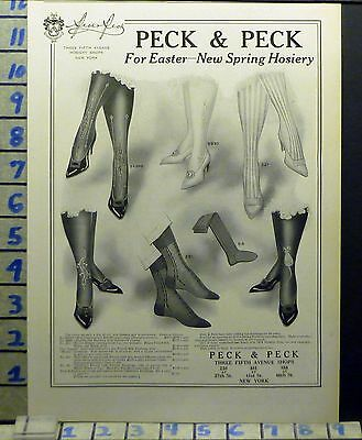 1913 Fashion Women Hosiery Peck Holiday Easter Style Beauty Vintage Ad Bj30