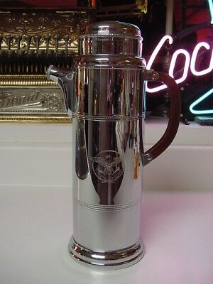 SS UNITED STATES LINES  Large Mid-Century Cocktail Shaker  /  Top Condition
