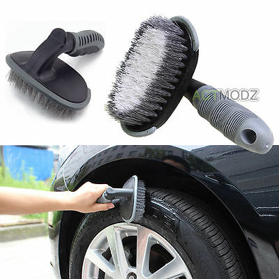 Car Motorcycle Wheel Tire Rim Scrub Brush Washing Cleaner Cleaning Tool Portable