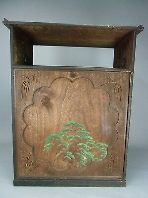 T66 Japanese Chest 2 Drawer Wood Vtg Paulownia Kiri Emperor Sashimono Tansu