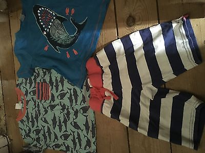 Mini Boden boys shorts tops age 2 - 3 years