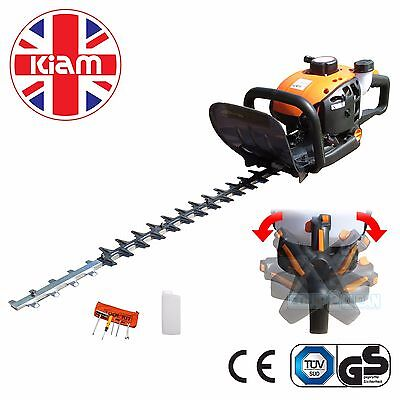 Petrol engined Hedge Trimmer 600mm Double Sided Blade with Adjustable Handle