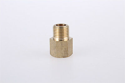 1/8 PT x 1/8 PT Thread Brass Straight Hex Nipples Pipe Reducer Connector