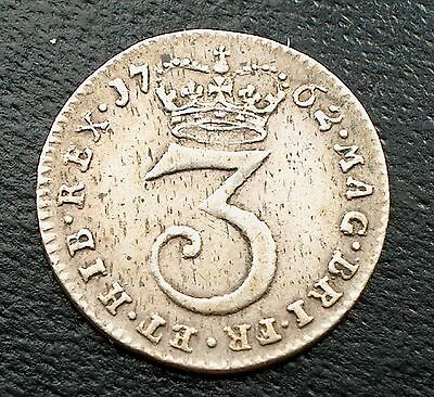 British - 1762  George III  Maundy Threepence