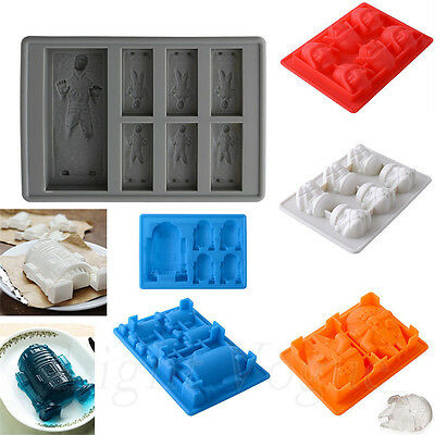 New Silicone Star Wars Ice Tray Mold Ice Cube Tray Chocolate Fondant BY