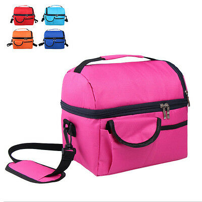 8L Insulated Portable Tote School Work Picnic Travel Lunch Ice Bag Double Layer
