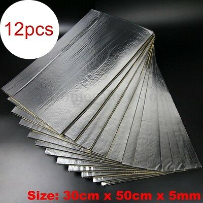 5mm 12 Sheets Car Van Sound Proofing Deadening Mat Insulation Closed Cell Foam