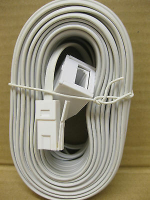 15 Metre Uk Male To Uk Female Telephone Extension Cable Bt Moden Fax Rj11