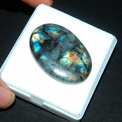 104 Cts Untreated Natural Rainbow Labradorite Pendant Size Magnificent Gemstone