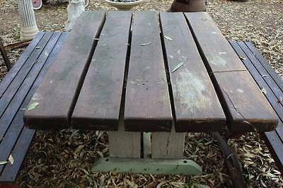A Solid Red Gum Outdoor Table - Bench Seats in other Listing