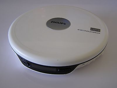 White Philips EXP2540 MP3 45 Second JogProof Personal CD Player ~ Free UK Post