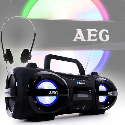 Bleutooth STEREO AUDIO EQUIPMENT USB MP3 Aux Portable CD Player Boombox Modern