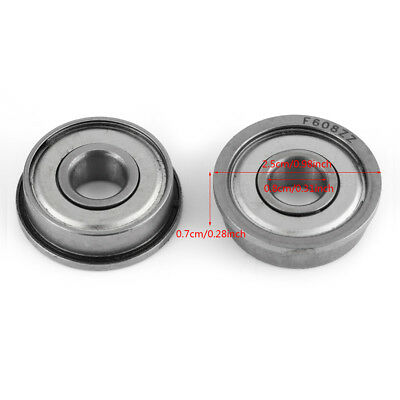 10PCS Flange Ball Bearing F608ZZ 8*22*7 mm Metric Flanged Bearing
