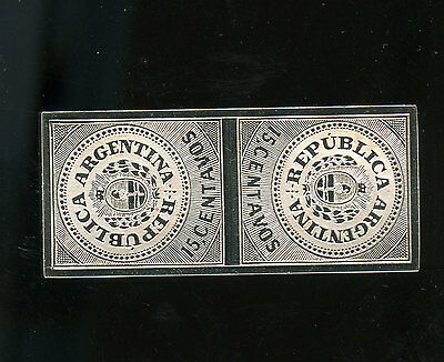 Sterling Silver Stamp Argentina 1862  15 Cent 16.85 g A154