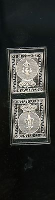 Sterling Silver Stamp Parma Italian States 1852 15 C 16.283 g A156