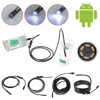 1M-3.5M Android 6LED 7mm Len Endoscope Waterproof Inspection Borescope Camera BY