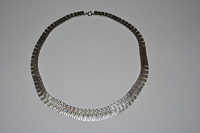 Filigranes Collier 835 Silber Art Deco Kette