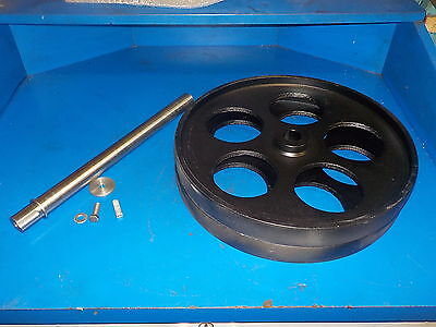 """Bandsaw Wheels Bandwheels 16"""" With Shaft New Build Your Own Sawmill Bandmill"""