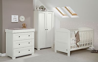 Mamas & Papas Harrow 3 Piece Nursery Furniture Set - White -From Argos on ebay