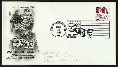 #2523 29c Flag Over Mt Rushmore, Art Craft FDC **ANY 4=FREE SHIPPING**