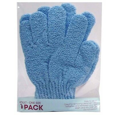 1 PAIR - Exfoliating Bath Gloves Mits Health Beauty Skin Care Shower Massage Spa