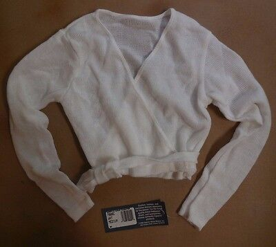 NWT Capezio 7808C White Wrap Sweater  Child  Ballet Dance Skate Cover Up