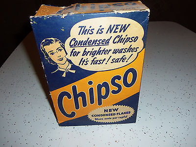 Vintage Chipso Detergent Box - Flakes Coat Opened but pretty full