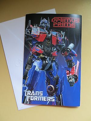 Talking Transformers Optimus Prime Happy Birthday Card American