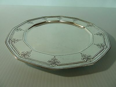 Tiffany & Co. Sterling Plate W/ Hand Chased Decorative Border