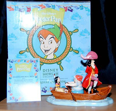 Disney Showcase By Royal Doulton Peter Pan Heading For Skull Rock Figurine Boxed