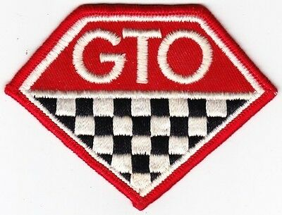 General Motors Pontiac GTO on Red Twill Patch